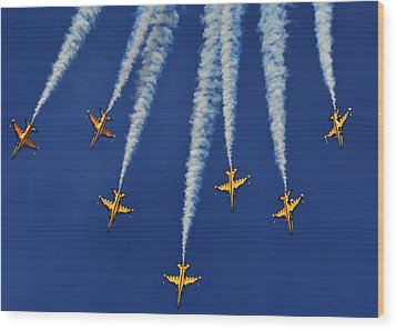 Wood Print featuring the photograph Republic Of Korea Air Force Black Eagles by Science Source