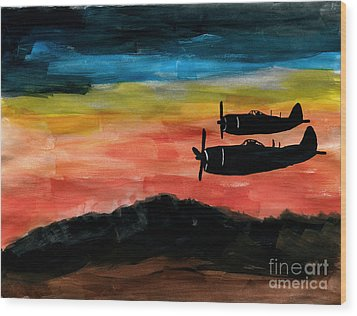 Republic P-47 Thunderbolts Wood Print by R Kyllo