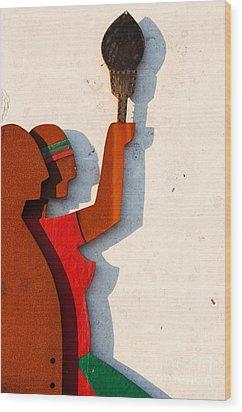 Republic Sculpture In Ourem Wood Print by Luis Alvarenga