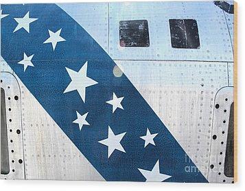 Republic Thunderflash Rf-84k - Stars Wood Print by Gregory Dyer