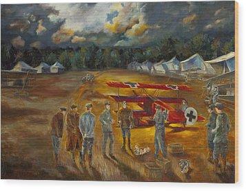 Requiem Of Flight Wood Print by Chris Brandley