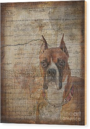 Rescued Wood Print by Judy Wood