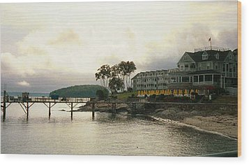 Resort In Bar Harbor Wood Print
