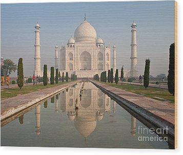 Resplendent Taj Mahal Wood Print