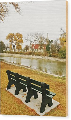 Wood Print featuring the photograph Rest A While In Ellis by Shirley Heier