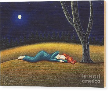 Rest For A Weary Heart Wood Print