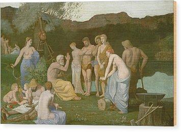Rest Wood Print by Pierre Puvis de Chavannes