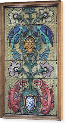 Restaurant Ceramic Birds Wood Print by A Morddel