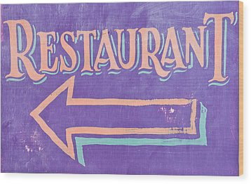 Restaurant Wood Print by Tom Gowanlock
