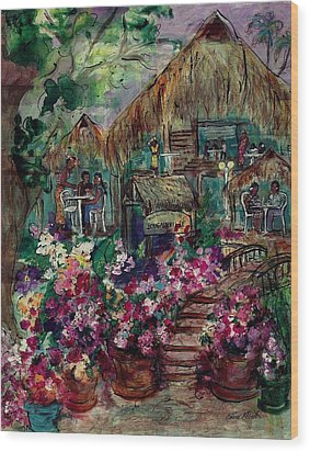 Restaurante Bougainville Wood Print