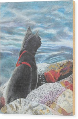 Wood Print featuring the painting Resting By The Shore by Jeanne Fischer