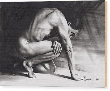 Resting Il Wood Print by Paul Davenport