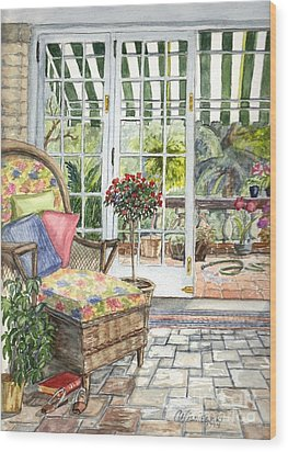 Resting On The Lanai Part 1 Wood Print by Carol Wisniewski