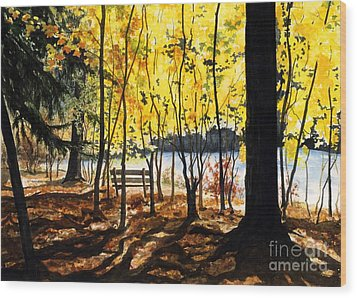 Resting Place Wood Print by Barbara Jewell
