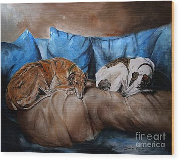 Resting Time Wood Print by Dorota Kudyba