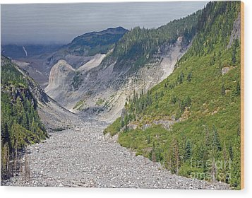 Restless Glaciers At Mount Rainier National Park Wood Print