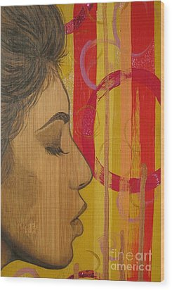 Wood Print featuring the mixed media Restless In Wonderment 3 by Malinda  Prudhomme