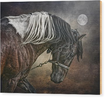 Wood Print featuring the photograph Restless Moon by Brian Tarr