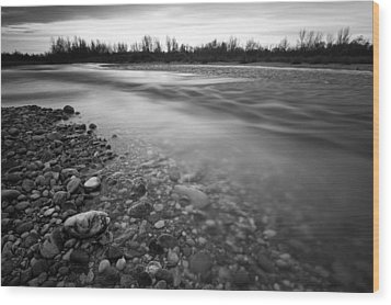 Restless River Wood Print by Davorin Mance