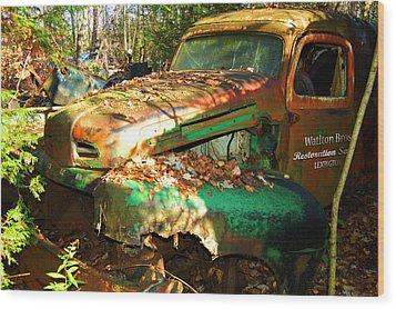 Restoration Service Wood Print by Ron Haist