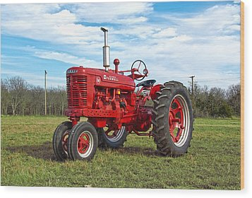Restored Farmall Tractor Wood Print