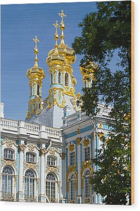 Resurrection Church Catherine Palace Wood Print