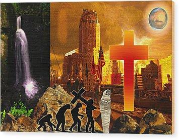 Resurrection Wood Print by Diskrid Art