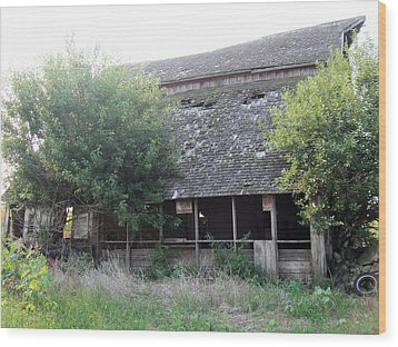 Wood Print featuring the photograph Retired Barn by Bonfire Photography