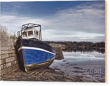 Retired Boat Wood Print by Olivier Le Queinec