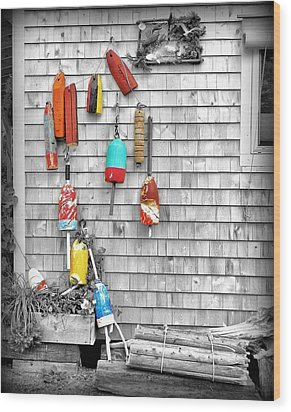 Retired Buoys Wood Print