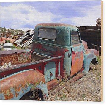 Retired Wood Print