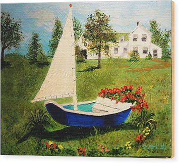 Retired In Cape Cod Wood Print