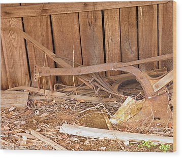 Wood Print featuring the photograph Retired Tools by Nick Kirby