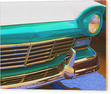 Retro Auto One Wood Print by Denise Beverly