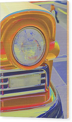 Retro Auto Two Wood Print by Denise Beverly