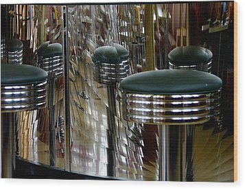 Retro Diner Wood Print by Paul Wash