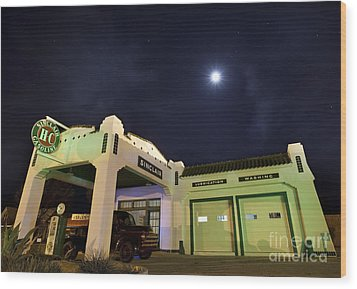 Wood Print featuring the photograph Retro Gas Station by Keith Kapple