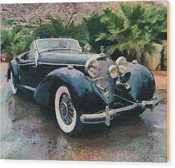 Retro Mercedes Wood Print