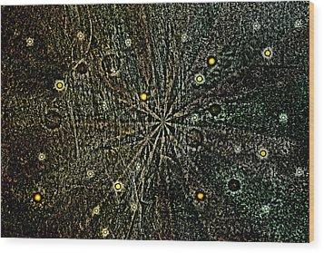 Retro Planets Wood Print by Steve Ball