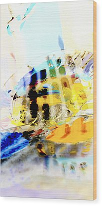 Wood Print featuring the digital art Retro Reflections by Christine Ricker Brandt