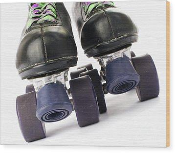 Retro Roller Skates Wood Print by Jose Elias - Sofia Pereira