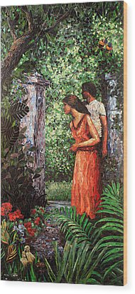 Return To Eden Partial View Wood Print by Sandra Bryant
