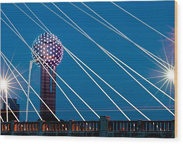 Reunion Tower Wood Print