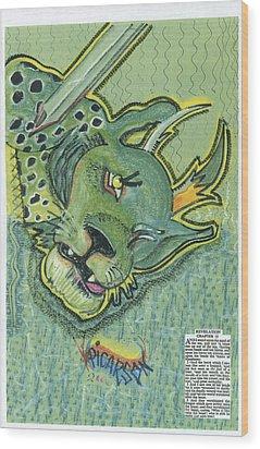 Revelation  Thirteen The Beast Wood Print by D Picarson