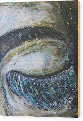 Wood Print featuring the painting Rever En Couleurs by Lucy Matta