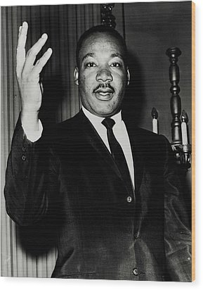 Reverend King Wood Print by Benjamin Yeager