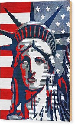 Reversing Liberty 1 Wood Print by Angelina Vick