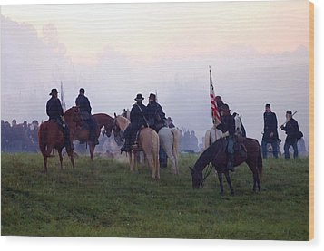 Reviewing The Troops - Perryville Ky  Wood Print by Thia Stover