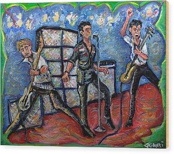 Revolution Rock The Clash Wood Print by Jason Gluskin