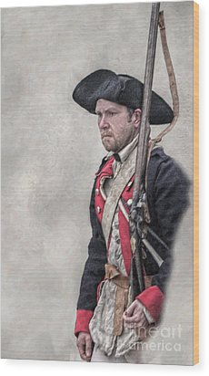 Revolutionary War American Soldier Two Wood Print by Randy Steele
